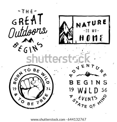 wanderlust vector logotypes ...