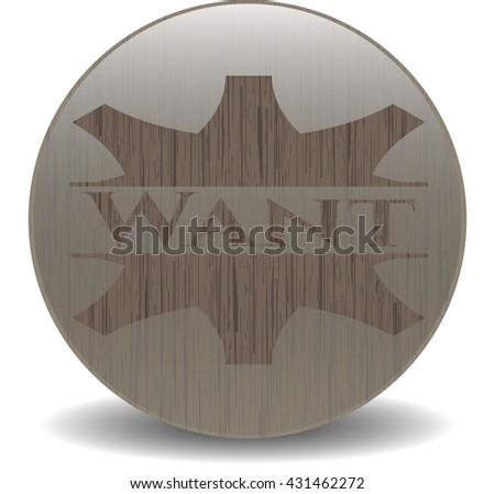 Want retro style wood emblem