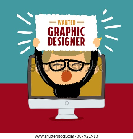 wanted graphic designer poster