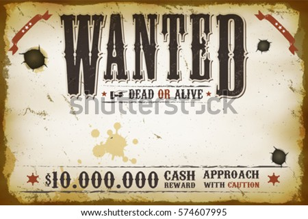 Wanted Poster Vectors  Download Free Vector Art Stock Graphics