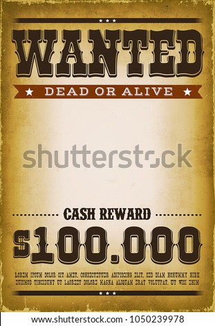 wanted western poster