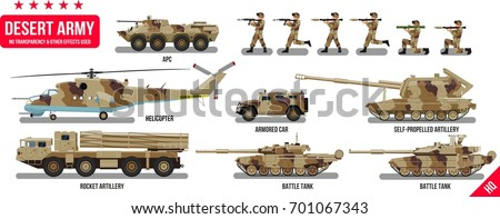 war army military vehicles set