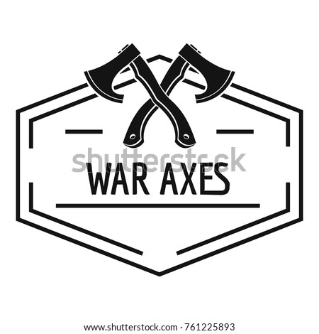 War axe logo. Simple illustration of war axe vector logo for web