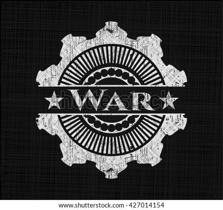 War chalk emblem, retro style, chalk or chalkboard texture