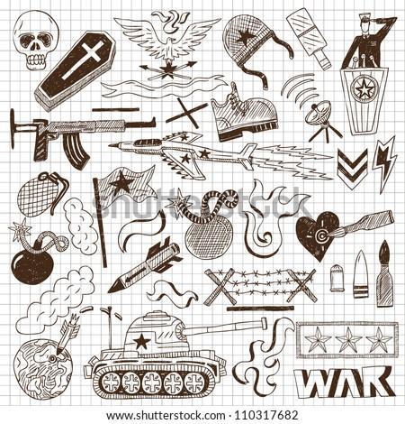 war doodles collection
