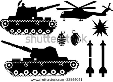 war elements like a war tank  a
