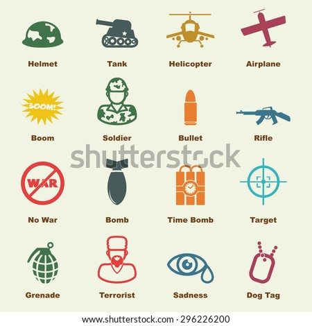 war elements  vector
