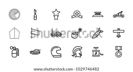 war icons set of 18 editable