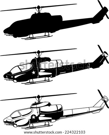 war military helicopter icons