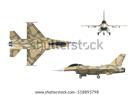 war plane in flat style