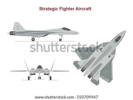 war plane on white background