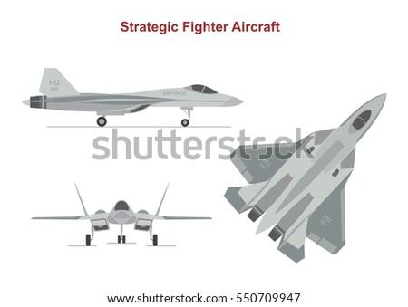 war plane on white background