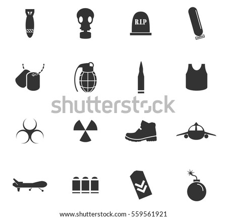 war symbols vector icons for
