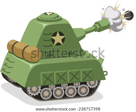 war tank shooting projectile