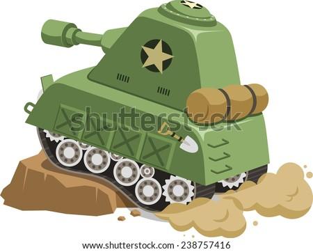 war tank vehicle climbing