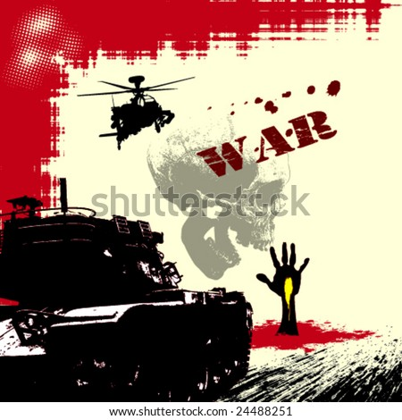 War Theme Vector Background
