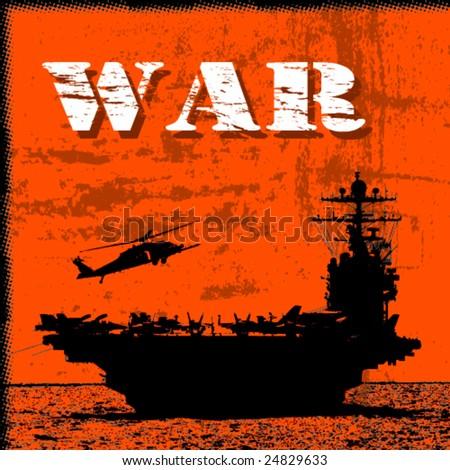 war theme vector background