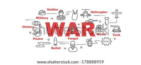 war vector banner design