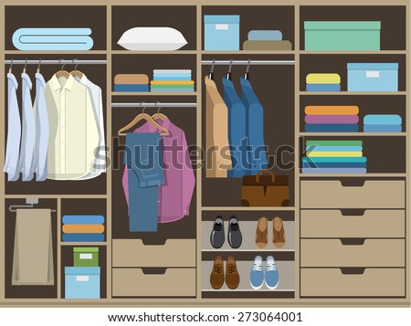 Wardrobe Room Full Of Mens Cloths