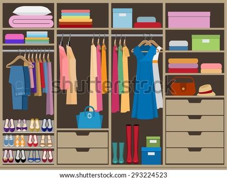 wardrobe room full of woman's