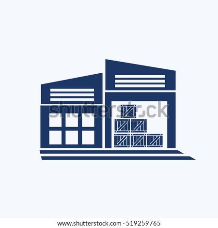 Warehouse icon design,clean vector