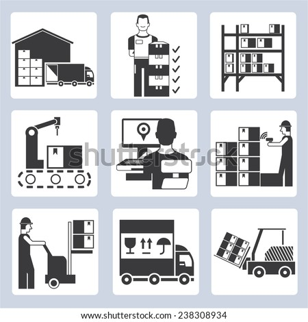 Operations Manager Icon Warehouse Management Icons Set