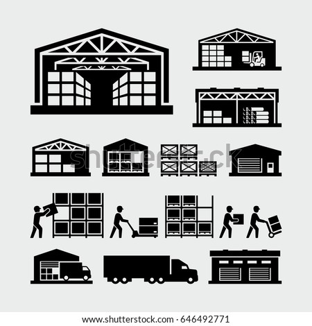 Warehouse Vector Icons