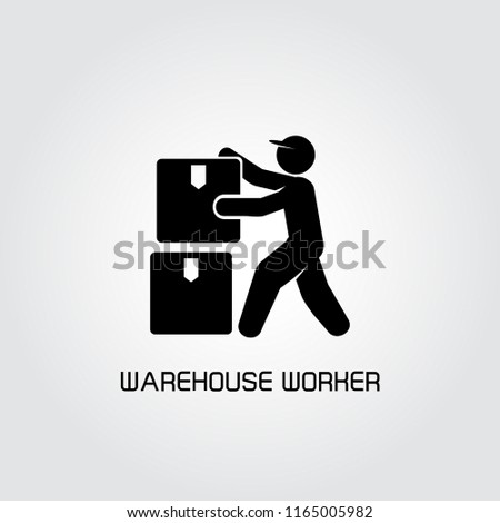 warehouse worker and box