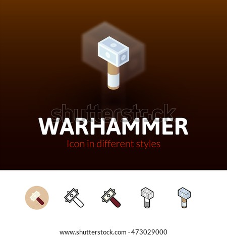 warhammer color icon  vector