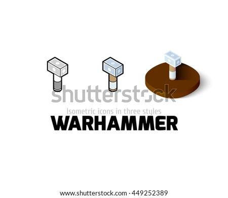 warhammer icon  vector symbol