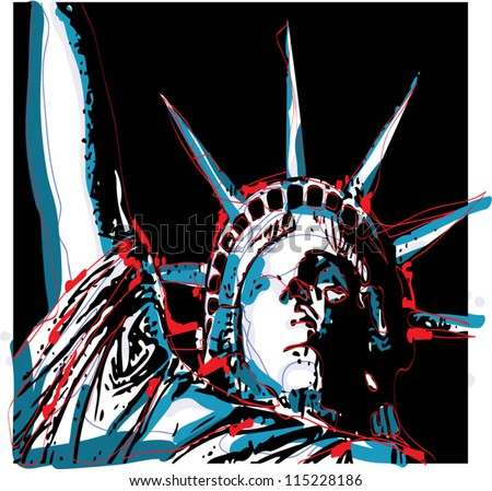 Warhol-Inspired Lady Liberty