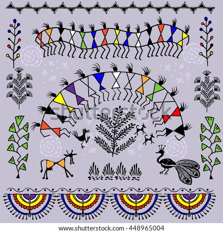warli painting   hand drawn