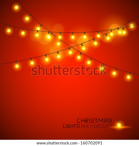 warm glowing christmas lights