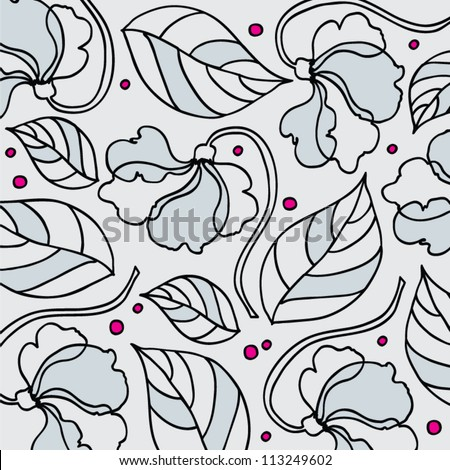 Warm Graphic Pattern Flowers