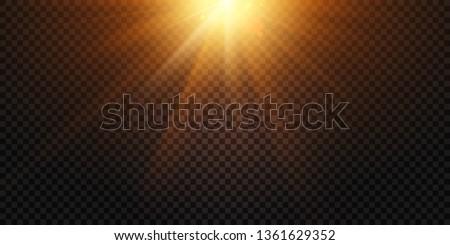 warm light rays magic lights