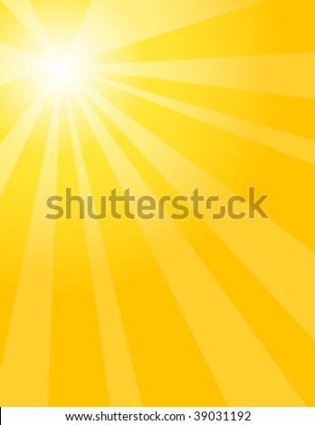 Warm Sun Rays Stock Vector 39031192 : Shutterstock