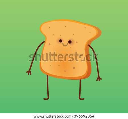 warm toast   flat design