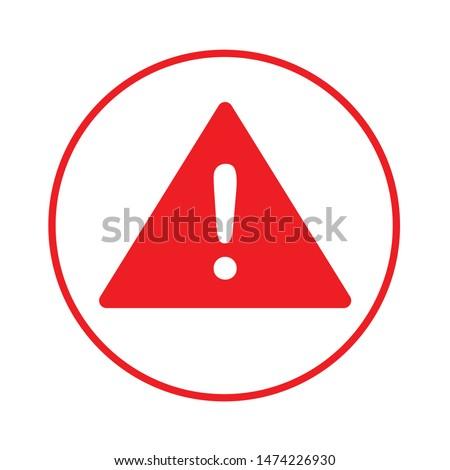 warning attention icon. flat illustration of warning attention vector icon. warning attention sign symbol