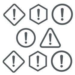 Warning attention sign. Danger sign design. Caution error icon