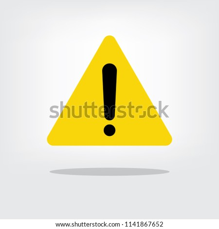 Warning attention sign. Danger sign. Vector illustration
