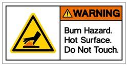 Warning Burn Hazard Hot Surface Do Not Touch Symbol Sign, Vector Illustration, Isolate On White Background Label .EPS10