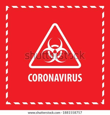 warning coronavirus sign check