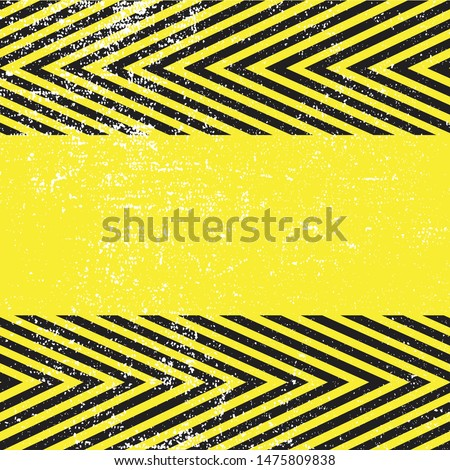 Warning danger signs vector illustration. Concept image for caution dangerous areas.