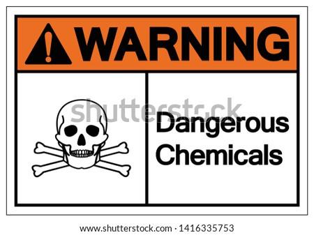 Warning Dangerous Chemicals Symbol Sign, Vector Illustration, Isolate On White Background Label. EPS10 Foto stock ©