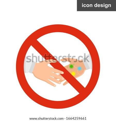 Warning dirty handshake virus spread sign