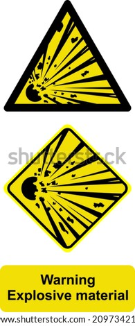 warning explosive material