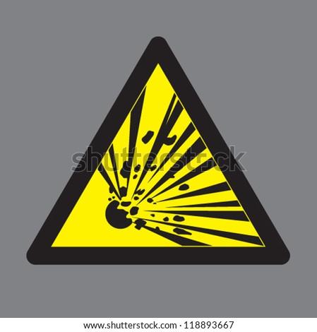 Explosive Symbol Vector Warning explosive symbolsExplosive Symbol Vector