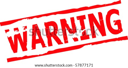 warning grunge stamp vector