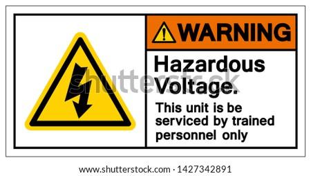 warning hazardous voltage