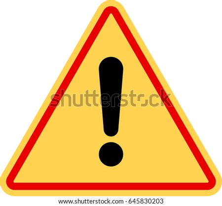 Warning Icon, Attention Icon. Danger Symbol Vector Illustration